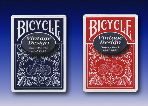Bicycle-Vintage Design #3 Red OR Blue 1 Deck