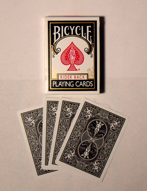 Black Bicycle Playing Card Deck