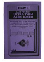 Card Index (Ultra Thin)