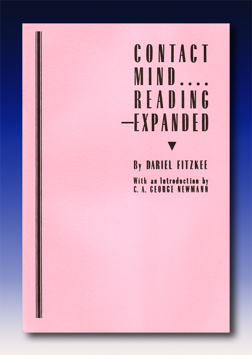 Contact Mind Reading Expanded by Dariel Fitzkee