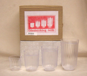 Diminishing Milk Glass (Set of 4)