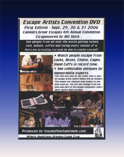 Escape Artists Convention DVD