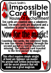 Impossible Card Flight by Chuck Smith