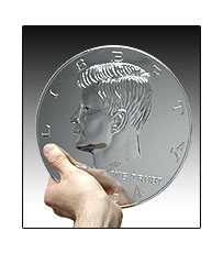 Jumbo Half Dollar 10 INCHES!