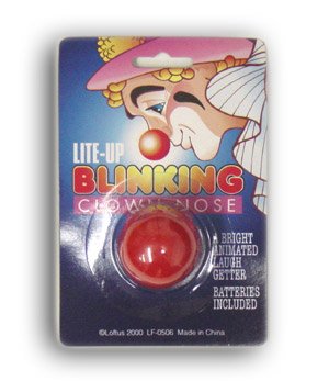 Lite-Up Blinking Clown Nose