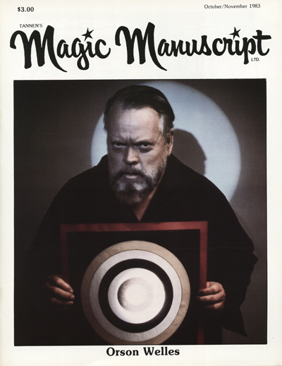 Magic Manuscript Orson Welles Edition