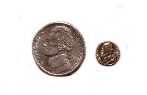 Mini Coins-5 cent pieces 6 each