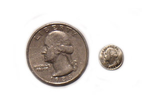 Mini Coins-Quarter Pieces 6 each