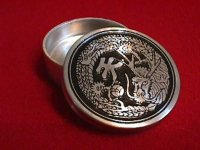 Dragon Okito Box Pewter Half Dollar
