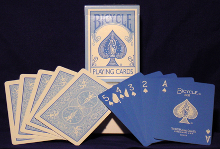Reverse Blue Bicycle Playing Cards