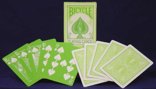 Reverse Green Bicycle Playing Cards