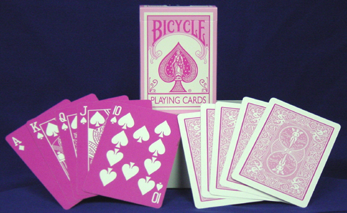 Reverse Red Bicycle Playing Cards