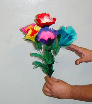 Feather Flower Bouquet (5 bloom) imported