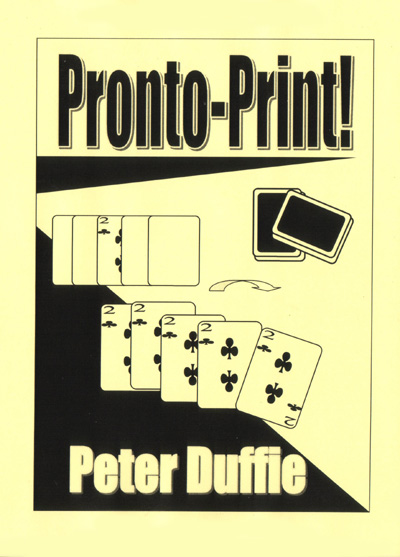 Pronto-Print by Peter Duffie