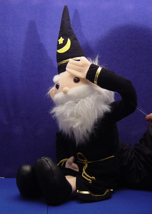 Amazing Mind Reading Wizard (Vent Puppet)