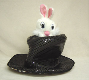 Rabbit Puppet In Hat (Small)