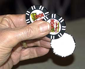 Silent Sliding Casino Chip by Porper