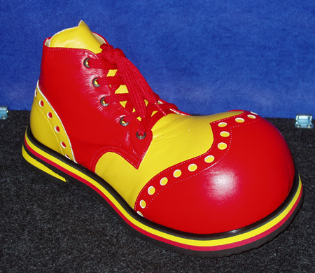 ShoeBees Bubble Toe Wingtip Clown Shoes Yellow & Red