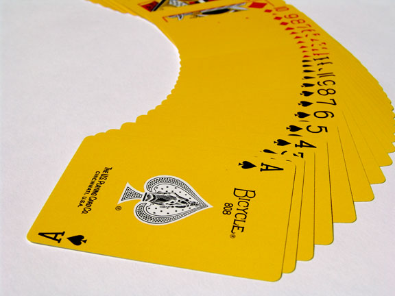 Yellow Deck-Bicycle Back Cards