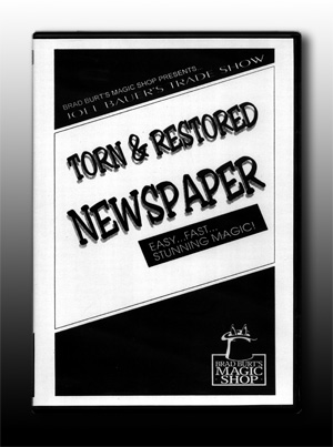 Torn & Restored Newspaper DVD