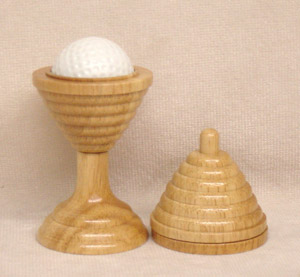 Golf Ball & Wooden Vase