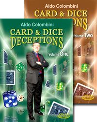 Card & Dice DVD SET of 2 by Aldo Colombini