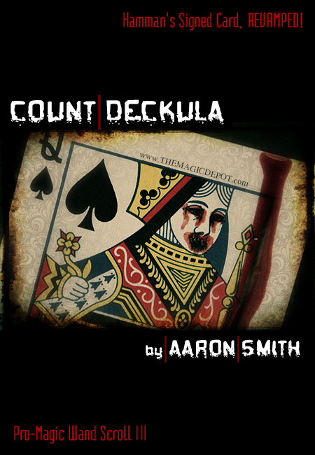 Count Deckula (Pro-Magic Wand Scroll III) FREE with orders over $50