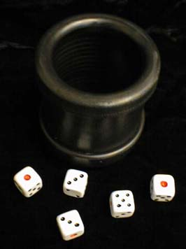 Dice Cup, No Ribs, with Dice