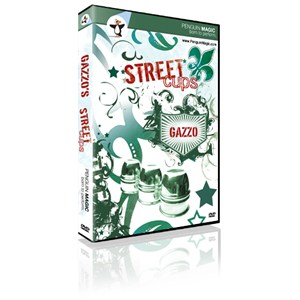 STREET CUPS AND BALLS (DVD+BOOK) BY GAZZO