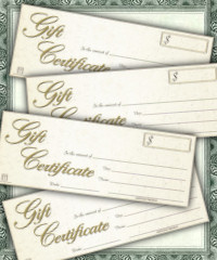 Gift Certificate PLUS Savings Coupon