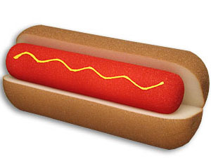 Foam Hot Dog/Bun 11