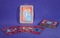 Bicycle-Clear Plastic Poker (Red)