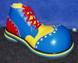 ShoeBees Bubble Toe Wingtip Clown Shoes Blue/Yellow/Red