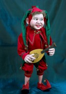 Joker Jester Marionette Large WITH MOVING EYES & TONGUE