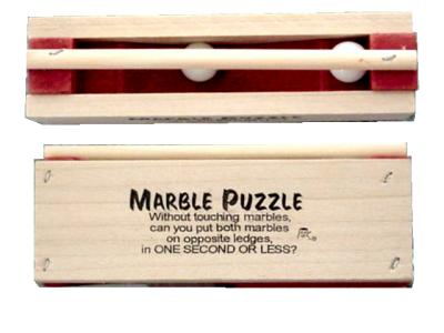 Two Marble Puzzle (Wooden)