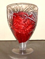 Mirror Wine Glass (w/Stem-Plastic)