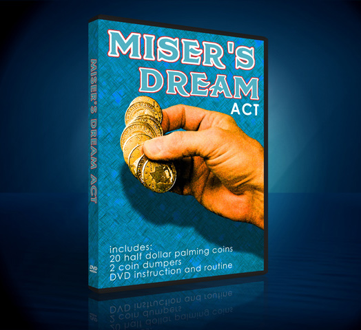Misers Dream Act w/ DVD & 20 Palming Half Dollars