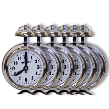 Multiplying Alarm Clocks 6 Stainless Steel