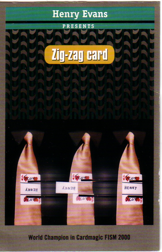 Signed Zig Zag Card by Henry Evan