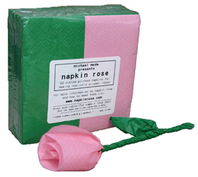 Napkin Rose Refills (Pink)-pack of 3