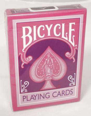 Reverse Purple Bicycle Playing Cards