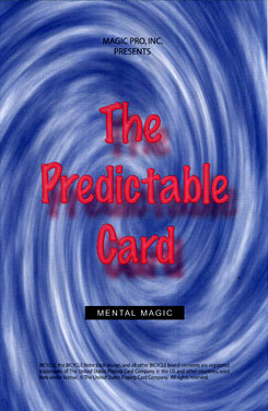 Predictable Card a Marked Bicycle Deck