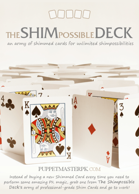 The Shimpossible Deck (52 Shim Cards)