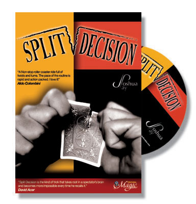 Split Decision DVD by Joshua Jay