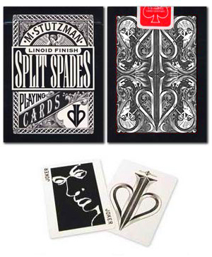 Split Spades-Black Deck by David Blaine