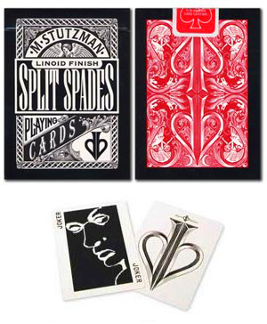 Split Spades-Red Deck by David Blaine