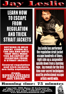 Straight Jacket Escape DVD by Jay Leslie