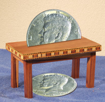 Coin Table Wooden