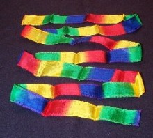 Thumbtip Silk Streamers 3' Multi (set of 2)