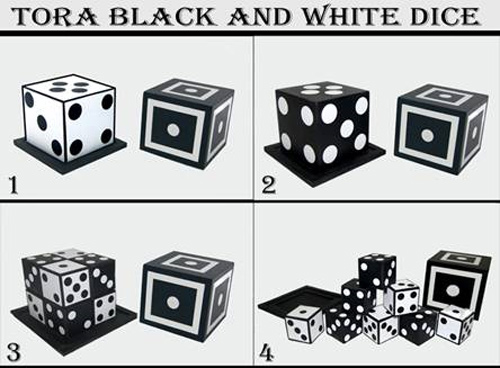 Black and White Dice (Stage Size)